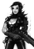 Speed paint shotgun girl by torvenius