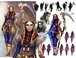 'Folio Stuff: Ishtar Character Concepts/Model by peach-mork