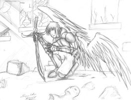 Fallen Angel by dragonsong12