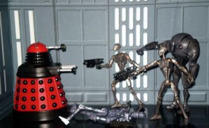 Dalek vs Droids by CyberDrone