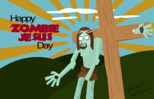 Happy Zombie Jesus Day by TheDarb