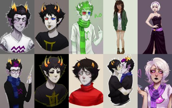 Homestuck art dump by wwhitewwand