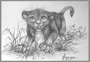 the lion cub by OmegaLioness
