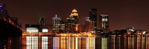 Downtown Louisville at Night by bizsumpark182