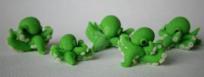 Sculpey Octopuses by ChristinaRoth333