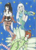 Eva, Starry Girl, and Lily by NeitoRibasGirl