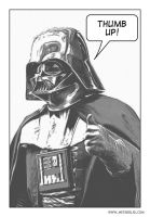 Thumb up, Darth Vader by metabolid