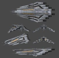 Neo-Cerberus Mobile Command Battleship by Alpha6official