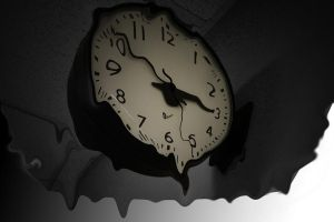Melting clock by B109