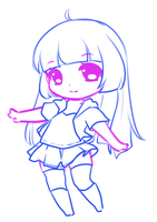 Sketch: possible new chibi style by RaineSeryn