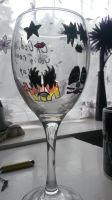 Kiss Painted Glass by SpottyBulboid