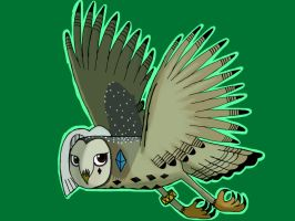 Ghirahim as a barn owl flying by barnowlgurl23