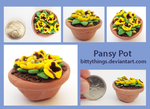 Pansy Pot - GIFT by Bittythings