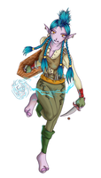 my Shaman: Ikult colour by bishie-keeper