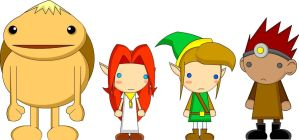 Zelda Character Dollies by LegendaryFrog