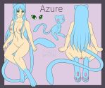 [Com] Azure ref sheet by Miss-Kaomi