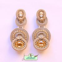 One of a kind Original Swarovski Soutache Earrings by DILETTANTEsoutache