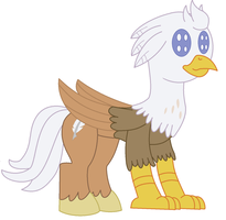 Plushie Pony or Hippogryph Sliver Quill by bigrosie