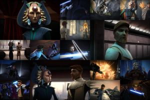 Obi-Wan and Satine collage by Grecian888