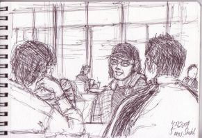Meeting at a Food Court by rhythmicStars