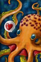 Octopus color Love by Porcelain--Hearts
