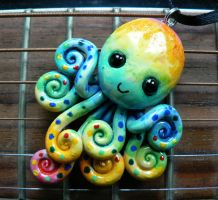 Watercolor Rainbow Octopus 2 by BlackMagdalena