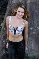 Zoe - rose bustier smile 3 by wildplaces