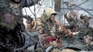 Edward Kenway in the battle comic version by OrochimaruXDD