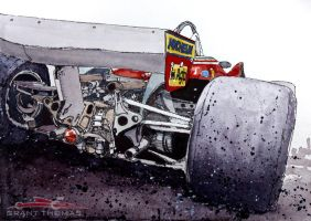 Ferrari 312 T5 'Gilles Ride' by ferrariartist