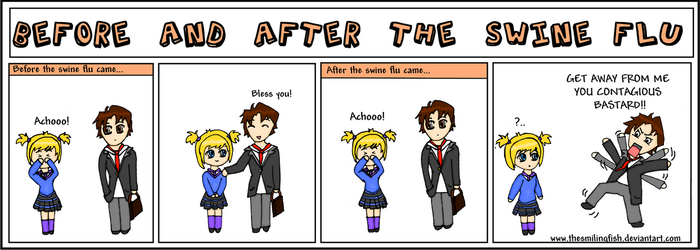 Before and after the Swine flu by TheSmilingFish