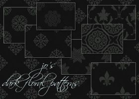 10 Dark Floral PS Patterns by gojol23