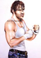 Colored Pencils - Dean ambrose. by Artbynash