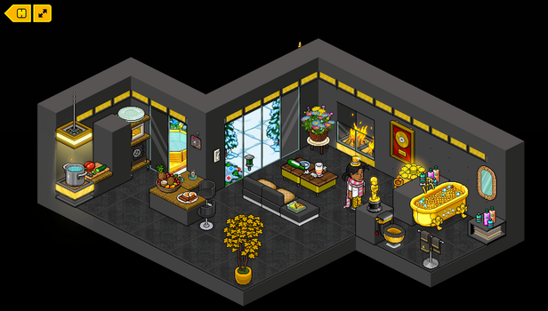 Place to be black and gold by Lannyhabbo