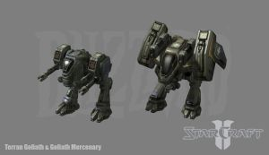 Starcraft 2: Terran Goliath by PhillGonzo
