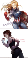 Lady Avengers by CircusMayer