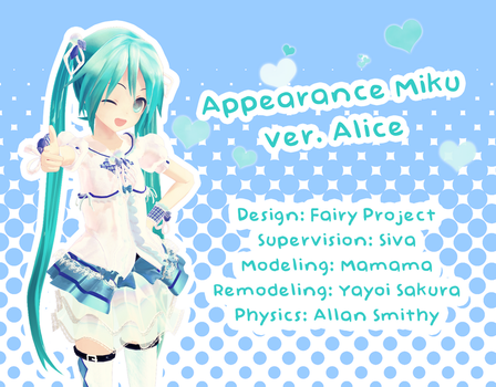 Appearance Miku Hatsune ver. Alice DL by G123u