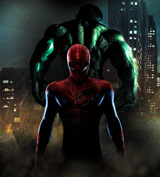 Hulk and Spider-Man by jsousa10