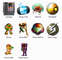 Metroid NES Windows Icons by sjg2008