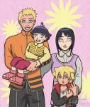 NaruHina Family by witchofoz93