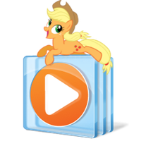 media player icon - applejack by spikeslashrarity