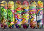 Psychedelic skateboards by ElAsmek