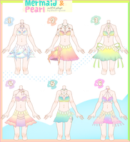 [CLOSED] Mermaid and Pearl Outfit Adopt #20 by Black-Quose