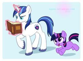 Whatcha readin', big brother? by arcuate
