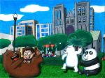 We Bare Bears in Huntington Park by WalterRingtail