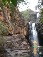 Enjoying Katherine Gorge Falls by daanton