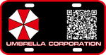 Umbrella Corp License Plate by viperaviator