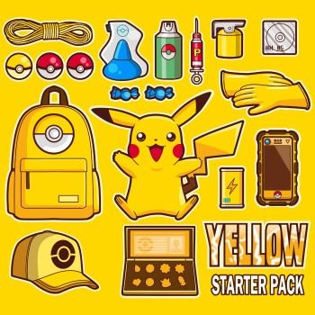 Yellow starter pack by MIKELopez