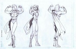 Power Girl Turnaround by AlonsoNunez