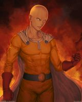 One-punch man - Saitama - Fanart by Marfrey