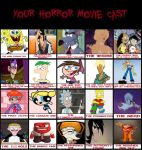 Toongirl's Horror Movie Cast by Toongirl18